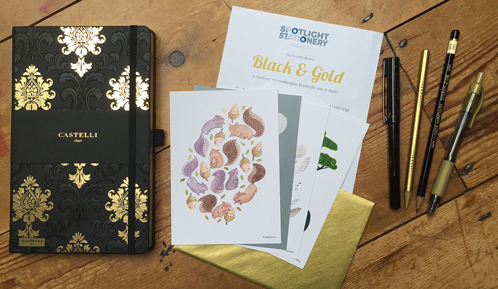 Black & Gold stationery
