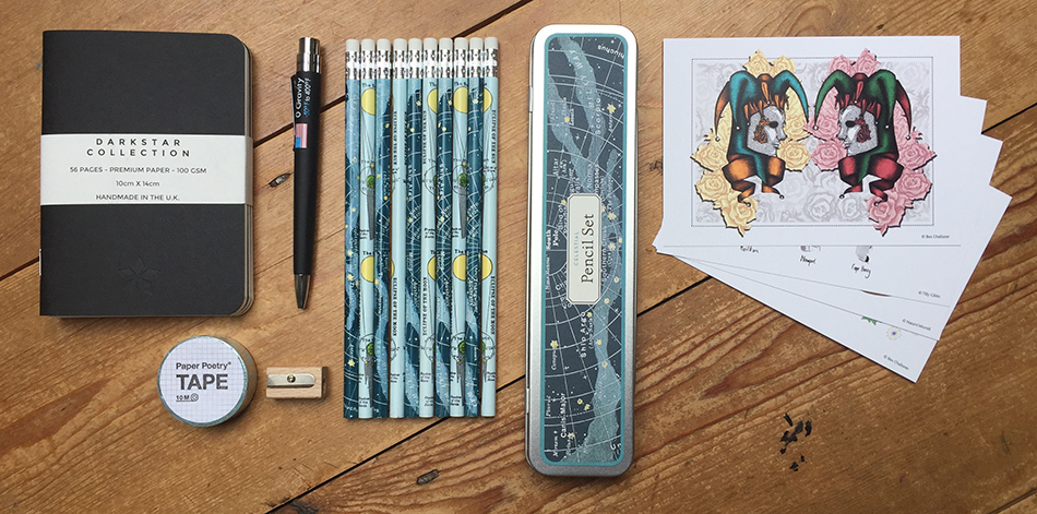 Space stationery collection