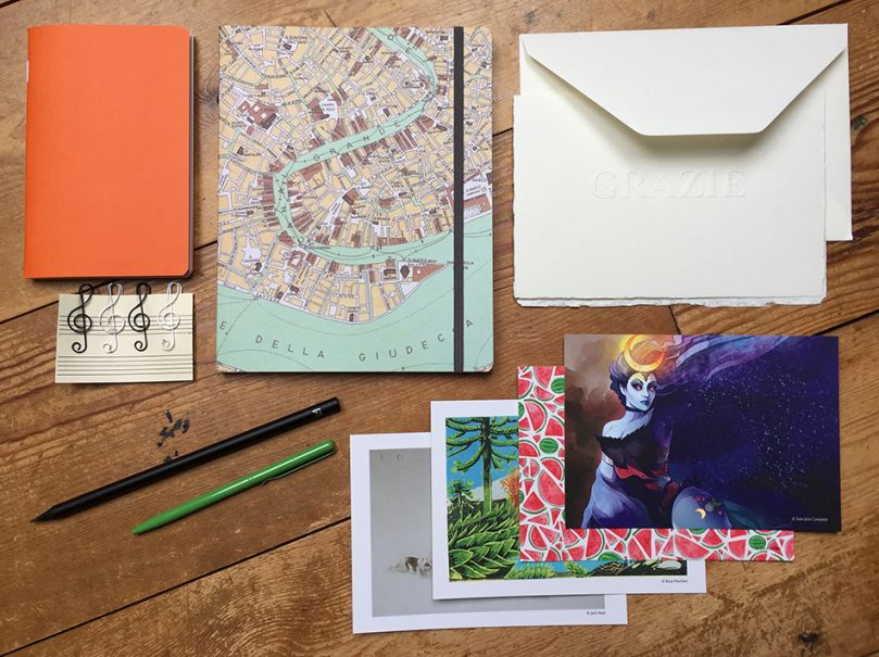 Fabriano stationery subscription box contents
