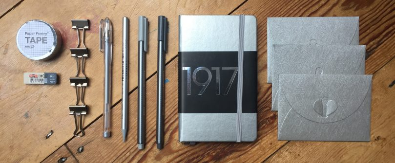 Silver stationery subscription box