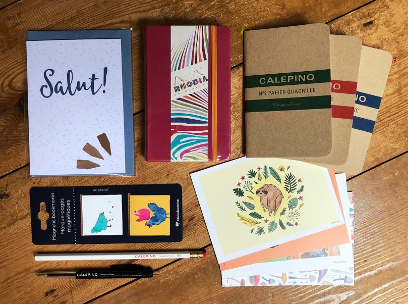 The Fench Connection stationery collection