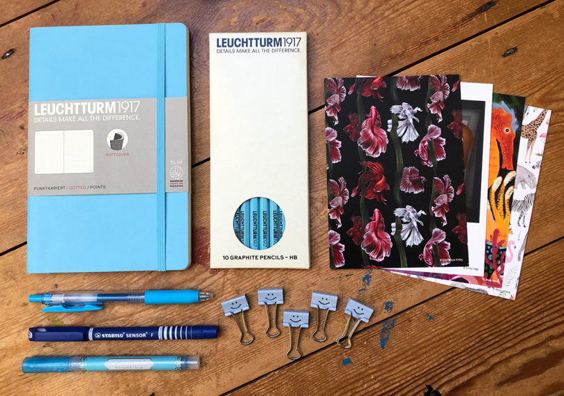 Out of the Blue stationery collection