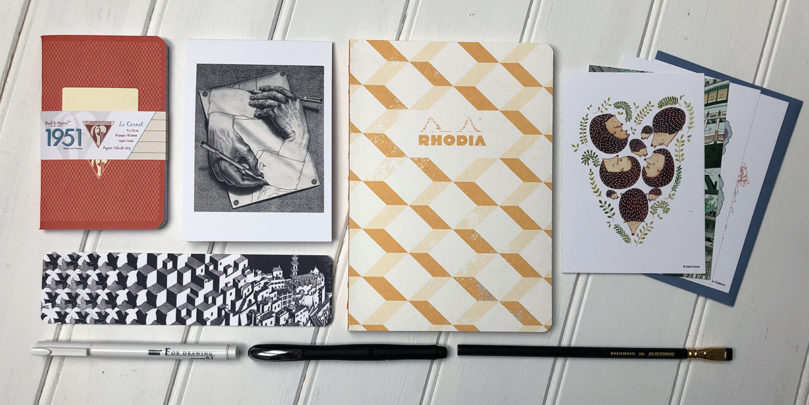 """Escher"" stationery subscription box"