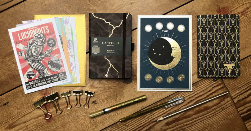 """Gold"" stationery subscription box"