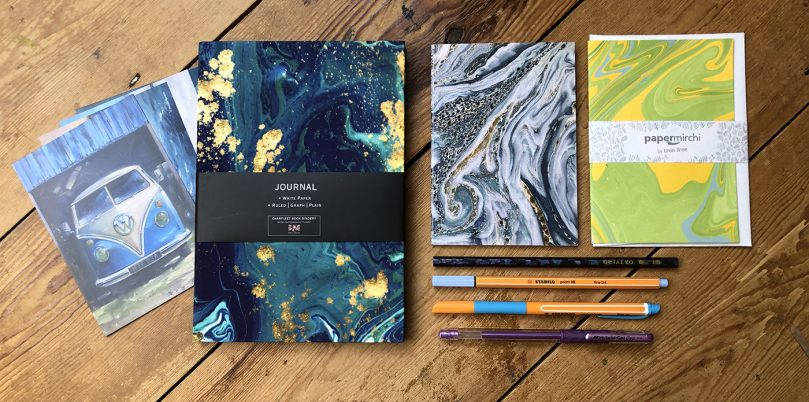 Marble stationery subscription box