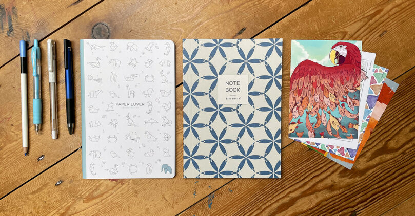 """""""Blue & White"""" stationery subscription box"""